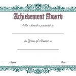 Long Service Award Certificate Template 1