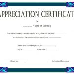 Long Service Award Certificate Template 7