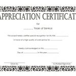 Long Service Award Certificate Template 8