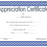 Long Service Award Certificate Template 9
