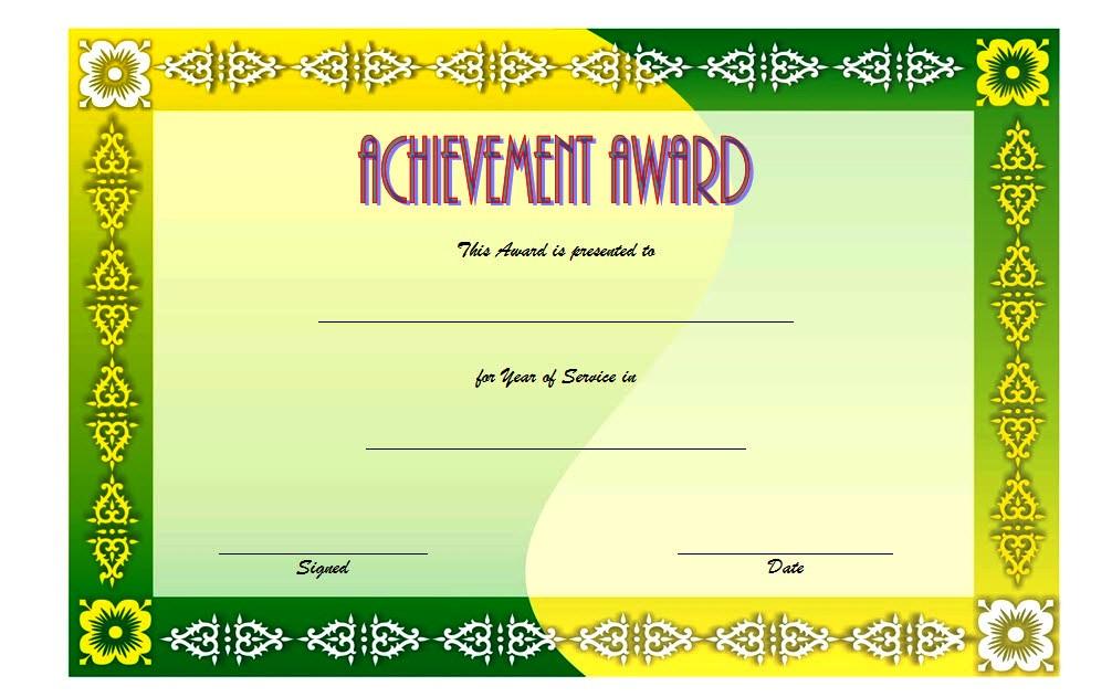 Long Service Award Certificate Template