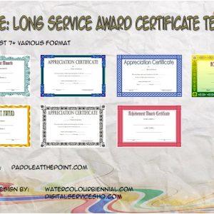 Long Service Award Certificate Templates