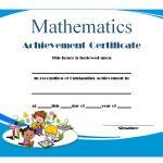 Math Achievement Certificate Template 2