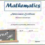 Math Achievement Certificate Template 3