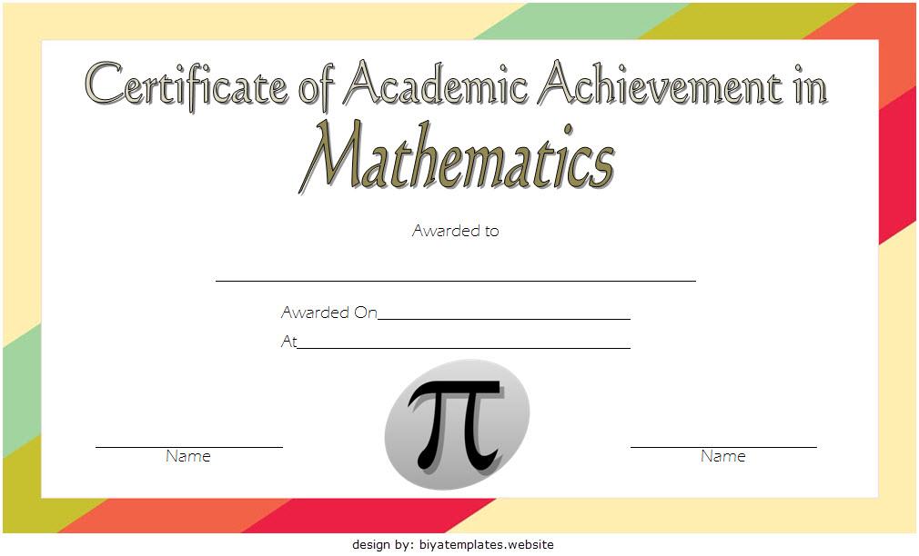 Math Achievement Certificate Template 6