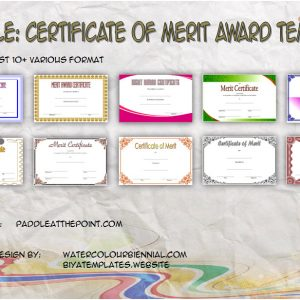 Merit Award Certificate Templates