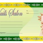 Nail Salon Gift Certificate Template