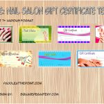 Nail Salon Gift Certificate Templates Paddle
