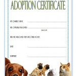 Pet Adoption Certificate Template 1