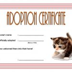 Pet Adoption Certificate Template 3