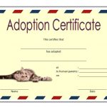 Pet Adoption Certificate Template 4