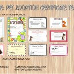 Pet Adoption Certificate Templates Paddle