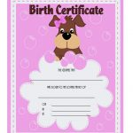 Pet Birth Certificate Template 1