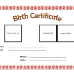 Pet Birth Certificate Template