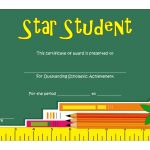 Star Student Certificate Template 1