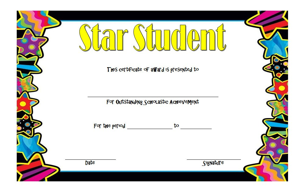 Star Student Certificate Template 2