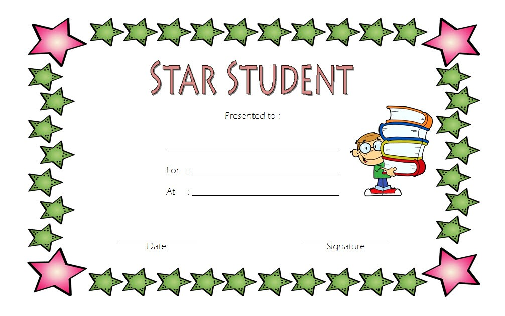 star student certificate templates