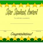 Star Student Certificate Template 6