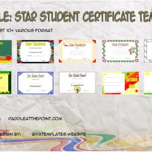 Star Student Certificate Templates – 10+ Best Ideas FREE