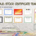 Stock Certificate Templates By Paddle