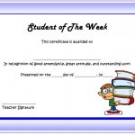 Student of The Week Certificate Templates