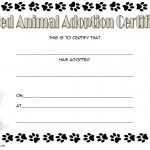 Stuffed Animal Adoption Certificate Template Free