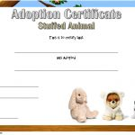 Stuffed Animal Adoption Certificate Template: 7+ Ideas FREE