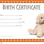 Stuffed Animal Birth Certificate Template 3