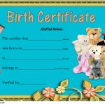 Stuffed Animal Birth Certificate Template 6
