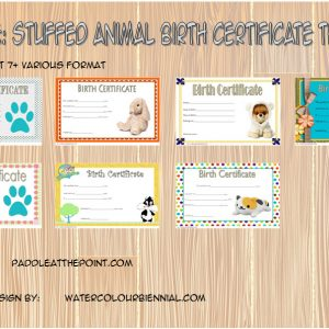 Stuffed Animal Birth Certificate