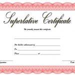 Superlative Certificate Template 1