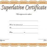 Superlative Certificate Template 2