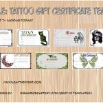 Tattoo Gift Certificate Templates Paddle