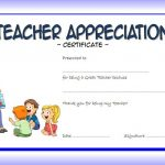 picture regarding Free Printable Teacher Appreciation Certificates named Instructor Appreciation Certification Template 4 Paddle At The