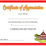Teacher Appreciation Certificate Templates