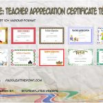 Teacher Appreciation Certificate Templates By Paddle