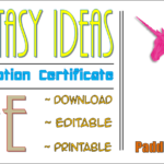 Unicorn Adoption Certificate Free Printable (7+ Fantasy Ideas) By Paddle