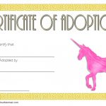 Unicorn Adoption Certificate Template 2