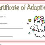 Unicorn Adoption Certificate Template 3