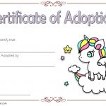 Unicorn Adoption Certificate Template 4