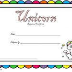 Unicorn Adoption Certificate Templates
