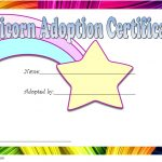 Unicorn Adoption Certificate Template 7