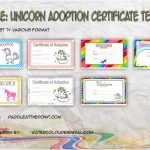 Unicorn Adoption Certificate Templates Paddle