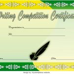 Writing Competition Certificate Templates