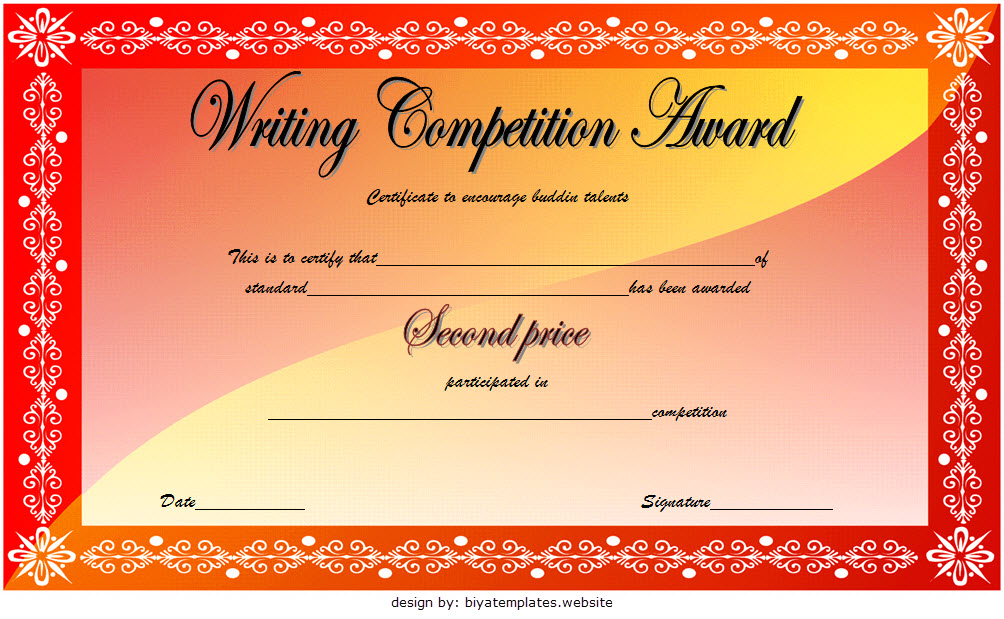 writing competition certificate templates, writing award certificate template, writing contest certificate template, essay contest winner certificate template, story writing competition certificate, certificate templates free download, creative writing competition certificate, free printable writing certificates