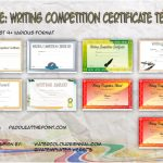Writing Competition Certificate Templates Paddle