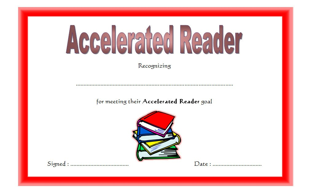 Accelerated Reader Certificate - 7+ Template Ideas