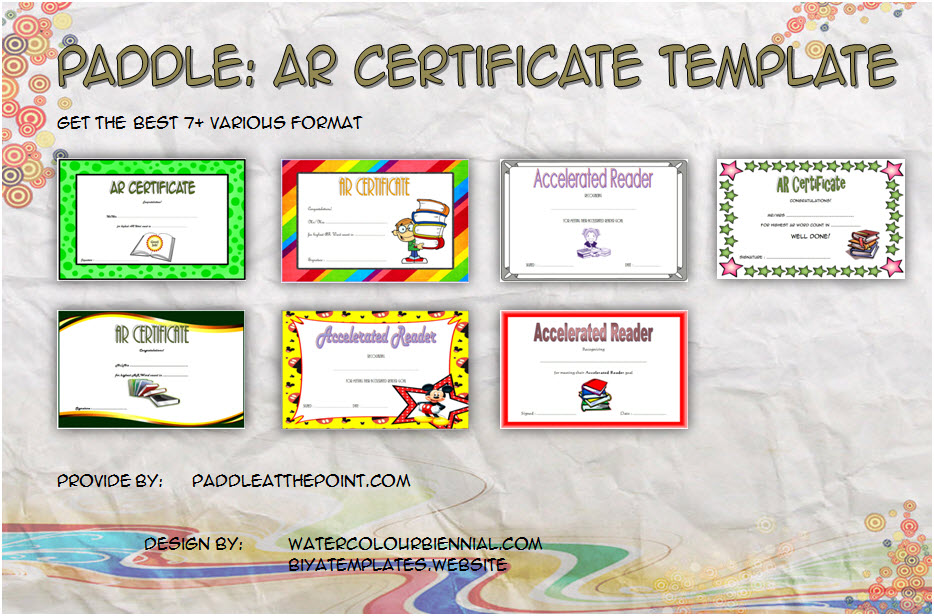 Download 7+ Best Ideas of Accelerated Reader Certificate Templates for AR Awards, Millionaires Club, Summer Reading, Students Achievement with many formats!