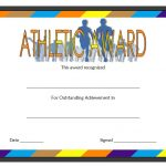 Athletic Award Certificate Template