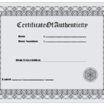 Authenticity Certificate Template 1